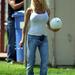 2004-ben aktuális barátjával, Christian Monzonnal focizott