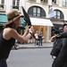 2007-ben, Párizsban esernyővel hadonászó bolondot alakított, de csak viccből