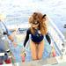 Hawaii szuper hely a snorkingolásra is, Ririnek jól áll a búvárfelső is.