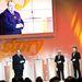 Vitray adta át a média Érték-díjat. Azon röhögött, hogy sok az Érték-díjasok között a sportriporter. Ezúttal Méhes Gábor sportkommentátor kapta.