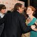 Jessica Chastain és Brad Pitt puszizkodni készül az Élet fája című film premierjén