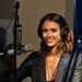 Jessica Alba színésznő a Sirius rádió stúdiójában, 2010-ben