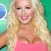 Aguilera az NBC sajtótájékoztatóján július végén. Jól néz ki