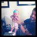 A képen Sharone és Ozzy Osbourne fiát és unokáját látja 2012 júniusában. Pearl Clementine mindössze két hónapos volt, amikor a kép készült.