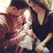 Channing Tatum, felesége Jenna Dewan és lányuk, Everly. Született: 2013. 05.30.