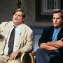 Crhis Farley (balra) és Jeff Daniels 1991-ben a Saturday Night Live egyik jelenetében.