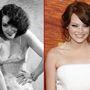 Bal: Lupe Vélez mexikói színésznő és szexszimbólum. 1908 júliusában született, karrierjét táncosként kezdte, utána került színészként filmekbe. Hat évig volt Johnny Weismüller felesége, 1939-ben váltak el. Magánéleti problémáival nem tudott megbirkózni, 1944-ben, mindössze 36 évesen öngyilkos lett. A mai napig keringenek róla hollywoodi legendák. A jobb oldali képen Emma Stone amerikai színésznő látható, aki 1988 novemberében született.