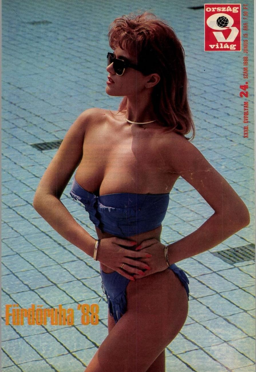 6. Rábaközi Andrea az Ország Világ című lap 1988. június 15-i számának címlapján.