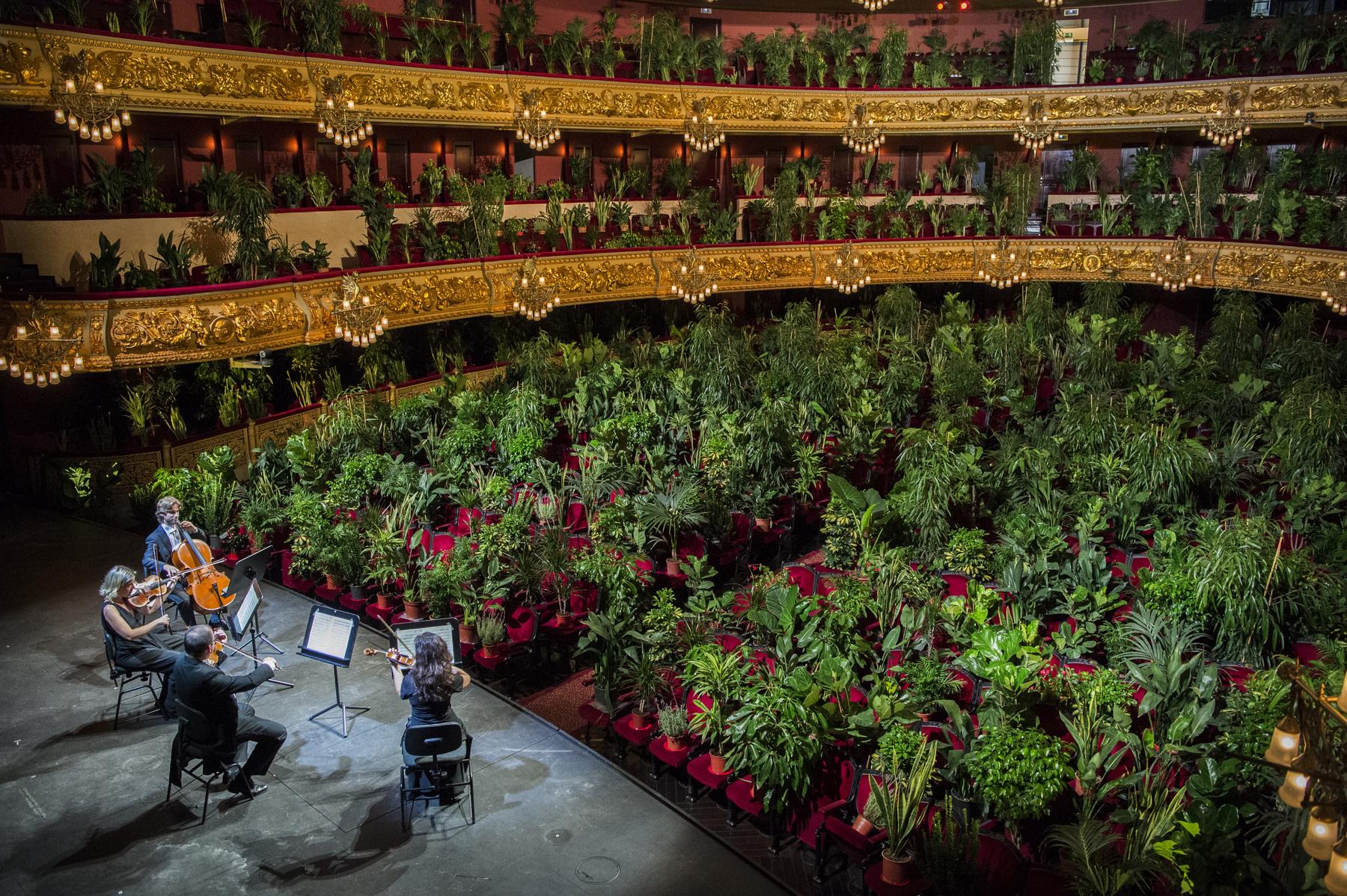 Barcelona operaházának rendhagyó újranyitása.