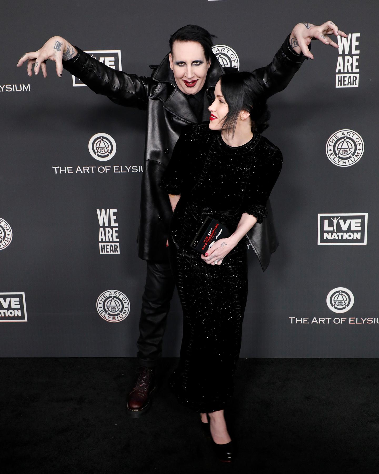Manson és Usich tavaly, a Vanity Fair Oscar-buliján, februárban.