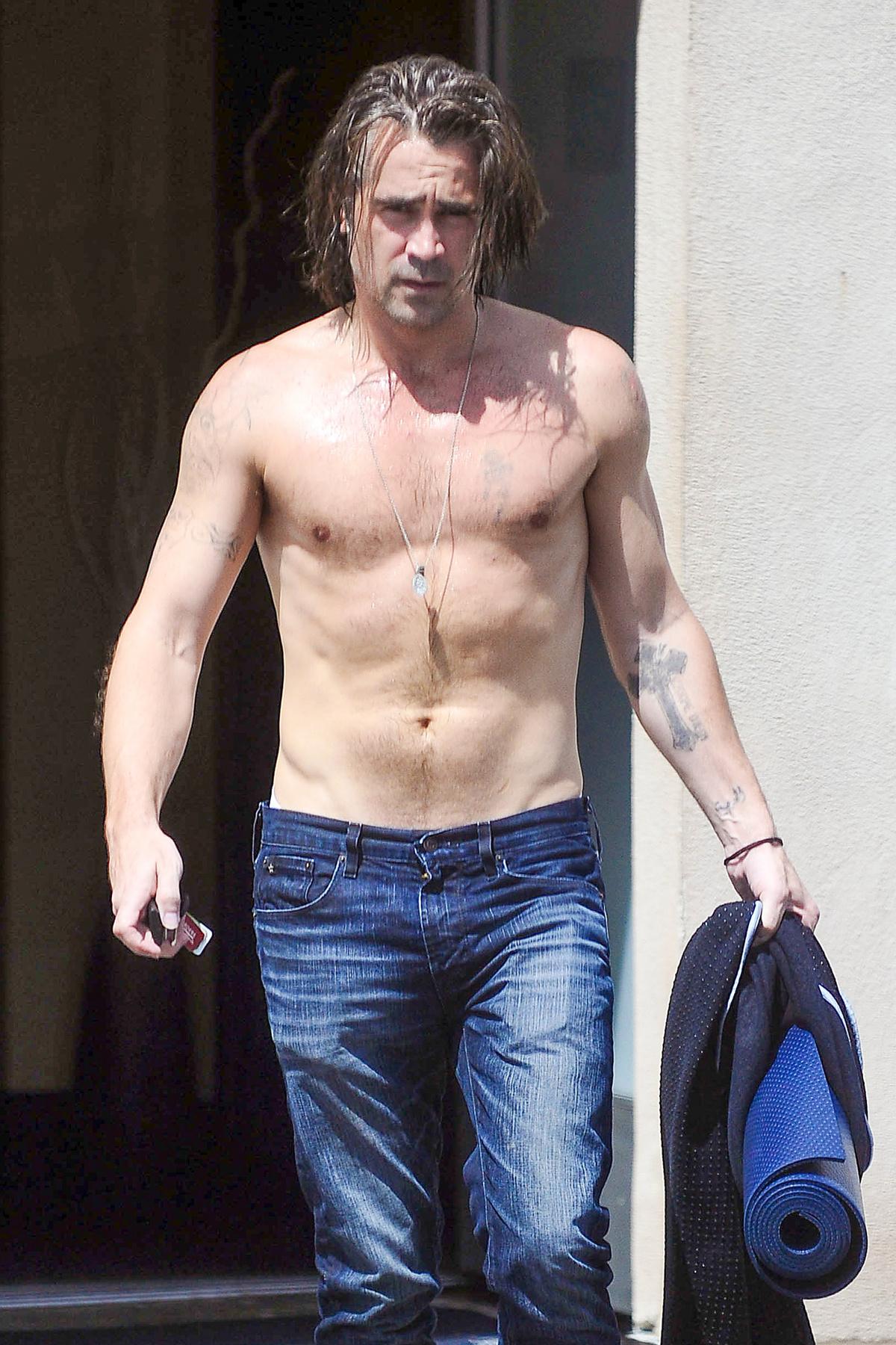 Isten veletek, Colin Farrell tetoválásai!