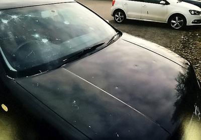 Az autó, aminek Sally Hallett nekiment egy kalapáccsal