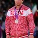 Rustam Totrov orosz birkózó sem ugrál kötöttfogású 96 kg-os súlycsoportban szerzett érmével.