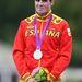 Javier Gomez spanyol triatlonos savanyú arca.