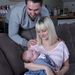 Katy Slade, a férje, David és a gyerekük, Beatrixe