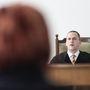 H.-né T. Cecília higgadtan ülte végig a délelőtti tárgyalást.