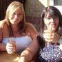 Rebecca Whiteway és anyja, Debbie Whiteway még a nagy fogyás előtt