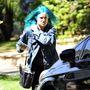 Amióta Tallulah Willis kijött a szalonból így, már senkinek nem lehet lelkifurdalás nélkül kék haja.