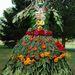Virágruha, alapanyagok: gerbera, füge, babér, krizantém