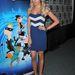 Ashley Tisdale minije kék alapon fehér csíkos