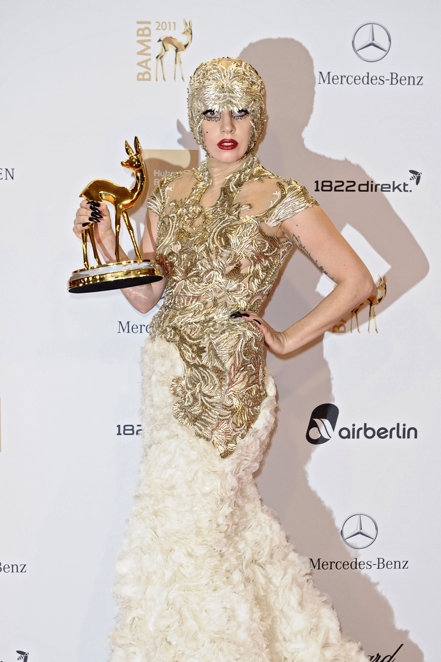 2011. november 10. - Lady Gaga a Bambi Awardson