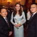 Katalin hercegné a megnyitót közvetlenül megelőző fogadáson, ahol a különböző országok államfői vettek részt