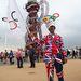 Egy brit rajongó-szurkoló a megnyitóünnepség előtt