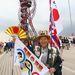 Egy japán rajongó-szurkoló a megnyitóünnepség előtt