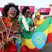 Etióp rajongók-szurkolók a megnyitóünnepség előtt