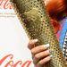 Katy B angol énekesnő az olimpiai lánggal pózol.