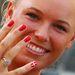 Caroline Wozniacki dán teniszező visszafogottan ünnepli országát.