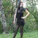 Első versenyzőnk, Masnis Lány a feketére és a csipkére esküszik, ám ezeket a maga nőies módján kombinálja