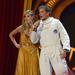 Heidi Klum és David Hasselhoff a színpadon