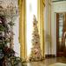 Michelle Obama a hadseregben szolgálatot teljesítők családjait fogadja a Fehér Házban egy előkarácsonyi partin