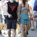 Renee Puente modell Syndeyben a strandon szerelmével, Matthew Morrisonnal