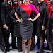 Miranda Kerr a Qantas egyenruhájában.