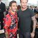 Marc Jacobs és David Beckham a Louis Vuitton divatbemutatóján a párizsi férfidivathéten