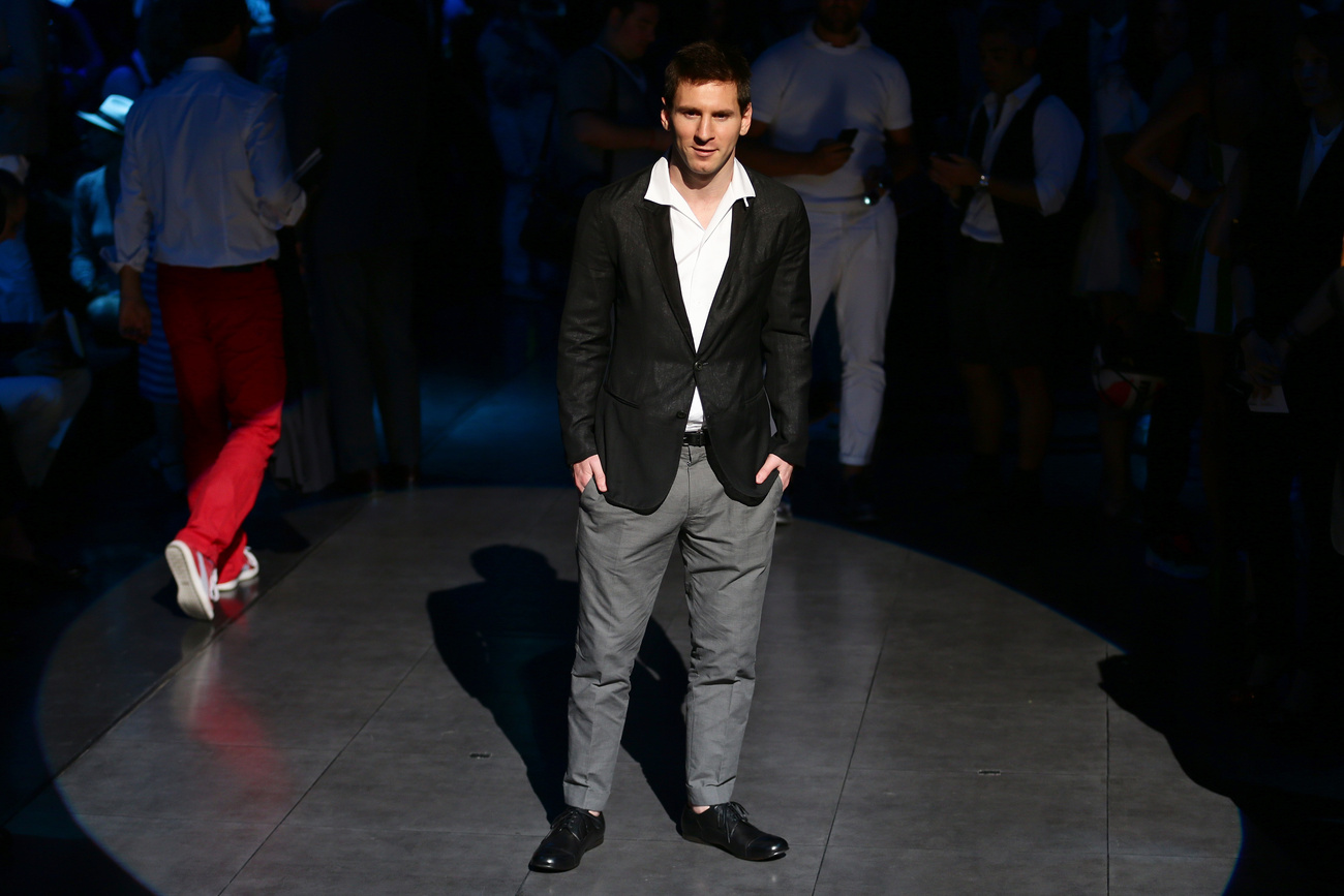 David Beckham a Louis Vuitton divatbemutatóján a párizsi férfidivathéten