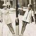 1967: Twiggy és a Twiggy-hasonmásverseny győztese. Rájönnek melyik az igazi? jó, eláruljuk: a jobb oldali lány