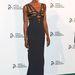 Naomi Campbell a fotófal előtt Novak Djokovics alapítványának estélyén a New York-i divathét alatt