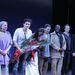 A Rómeó és Júlia szereplőgárdája a színpadon a Broadwayen