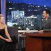 Múlt kedden feketében Jimmy Kimmel beszélgetős műsorában