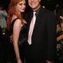 Christina Hendricks és a sorozat egyik fiatal színésze, Rich Sommer a Mad Men első évadjának premierje alkalmából tartott bulin, 2007. július 15-én