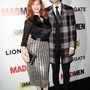 Christina Hendricks és férje, Geoffrey Arend a Mad Men utolsó évadjának premierje alkalmából tartott bulin, 2014. április 2-án