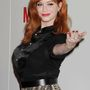 Christina Hendricks a Mad Men utolsó évadjának premierje alkalmából tartott bulin, 2014. április 2-án