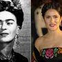 Frida Kahlo – Salma Hayek. A legendás mexikói festőnő életéről 2002-ben készült film, amelynek bemutatóján Salma Hayek kicsit Kahlo stílusában öltözött fel. Szinte ugyanolyan, csak jóval szebb